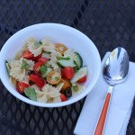 basil and veggie pasta salad