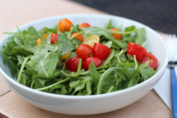 Simple Baby Arugula Salad