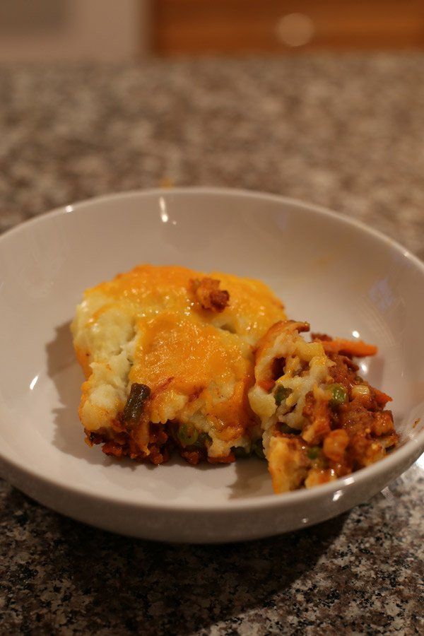 slice of shepherd's pie