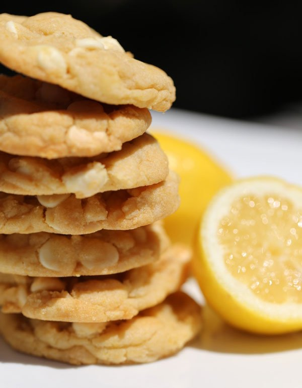 White Chocolate Lemon Cake Mix Cookies