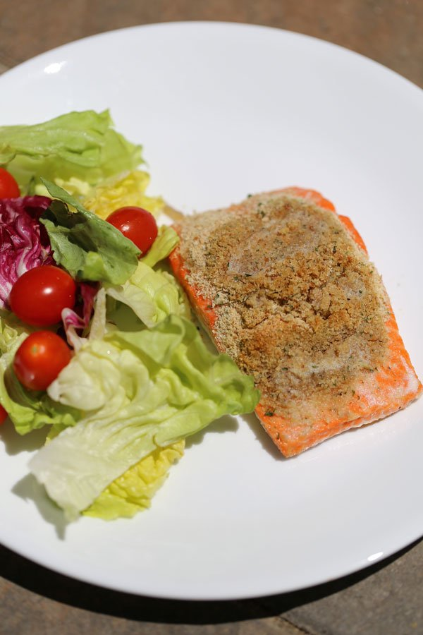 perfect salmon with salad