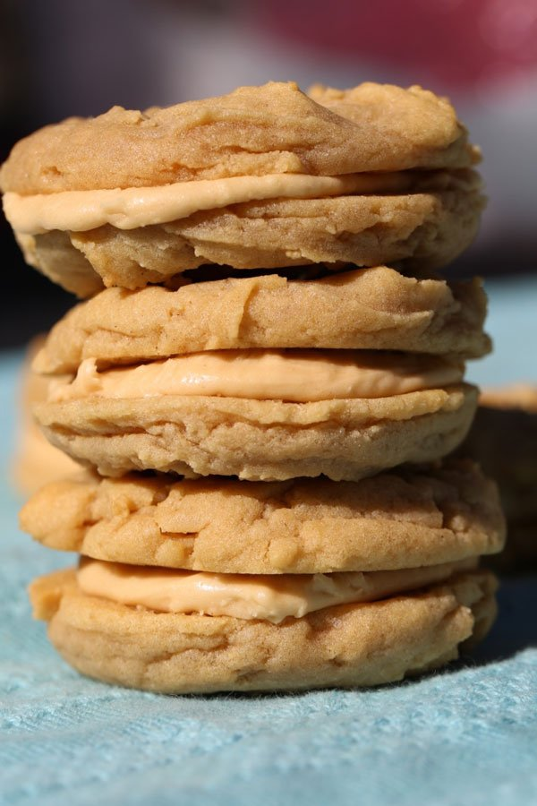 Peanut-Butter-Sandwich-Cookies-stacked
