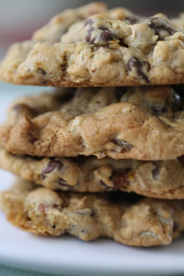 Chocolate Chip Pecan Cookies with Orange Zest