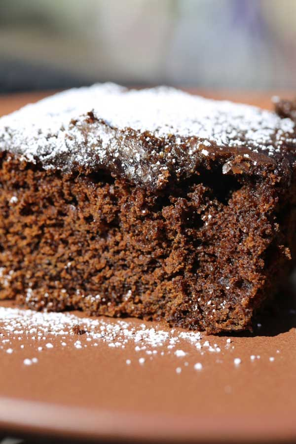 Gingerbread Cake with Coffee Glaze