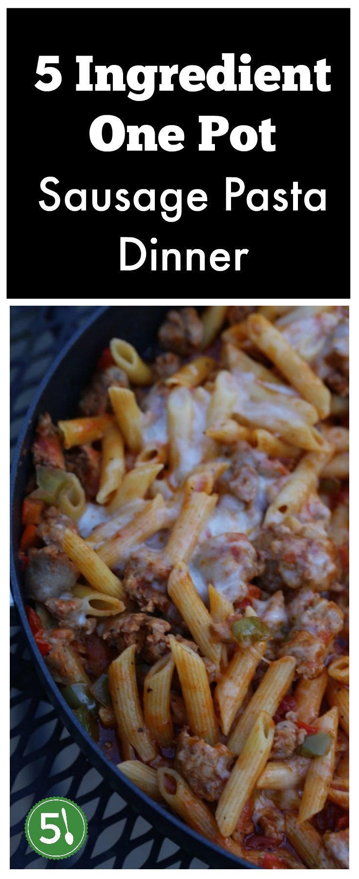 This 5 ingredient one pot italian sausage and pasta dish is perfect for busy families who want to put healthy and easy dinners on the table in a flash.
