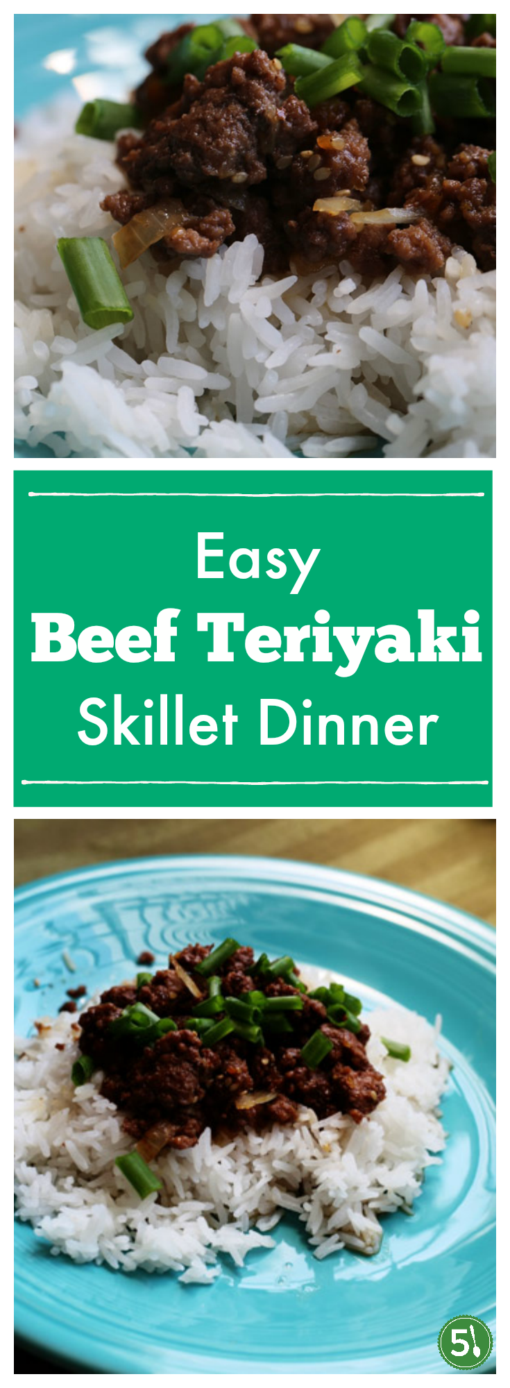 Easy beef teriyaki skillet dinner ready in 20 minutes.  So delicious and a dish the whole family will enjoy.