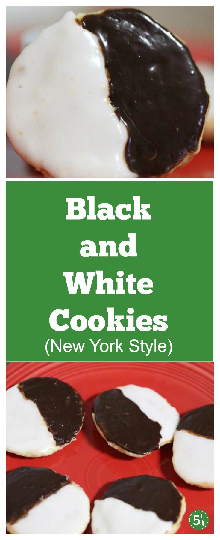Black and white cookies recipe just like you would find in a New York Bakery. Decorated black and white cookies for the holidays are so fun!