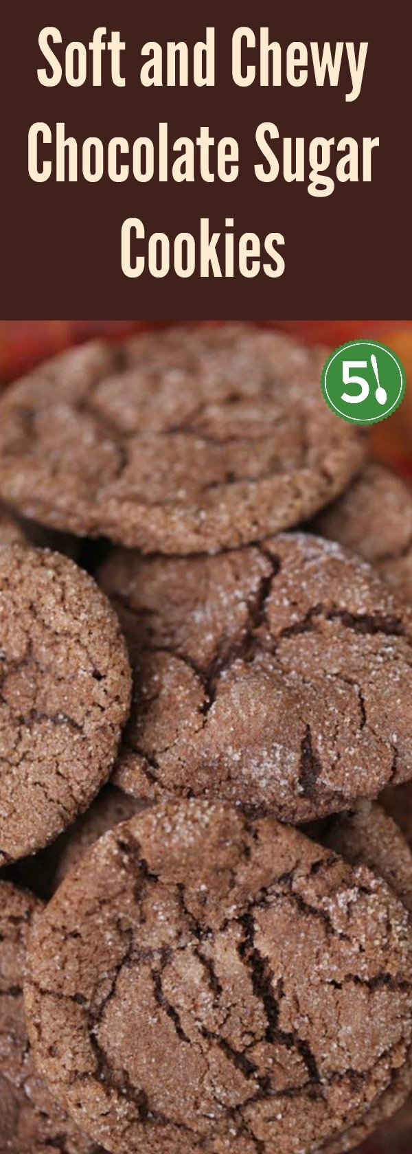 Easy recipe for soft and chewy chocolate sugar cookies that are easy to whip up with ingredients that you most likely already have in your cupboard.