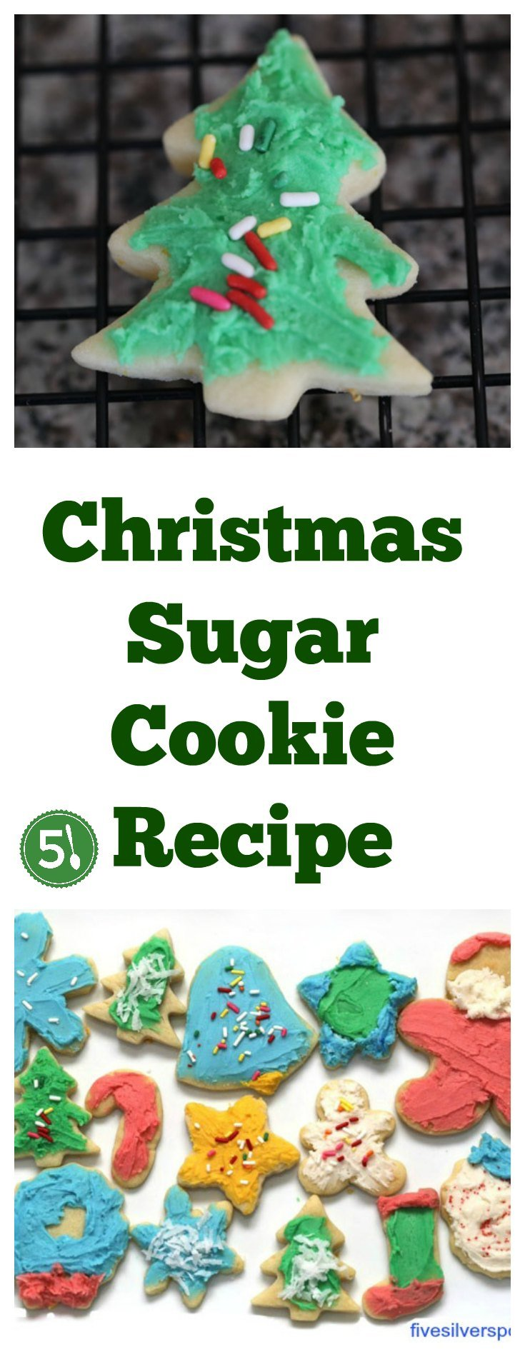 Easy Christmas Sugar Cookies Recipe for the Best Cut out cookies around!  Your kids will have so much fun coming up with decorating ideas for these yummy holiday cookies.