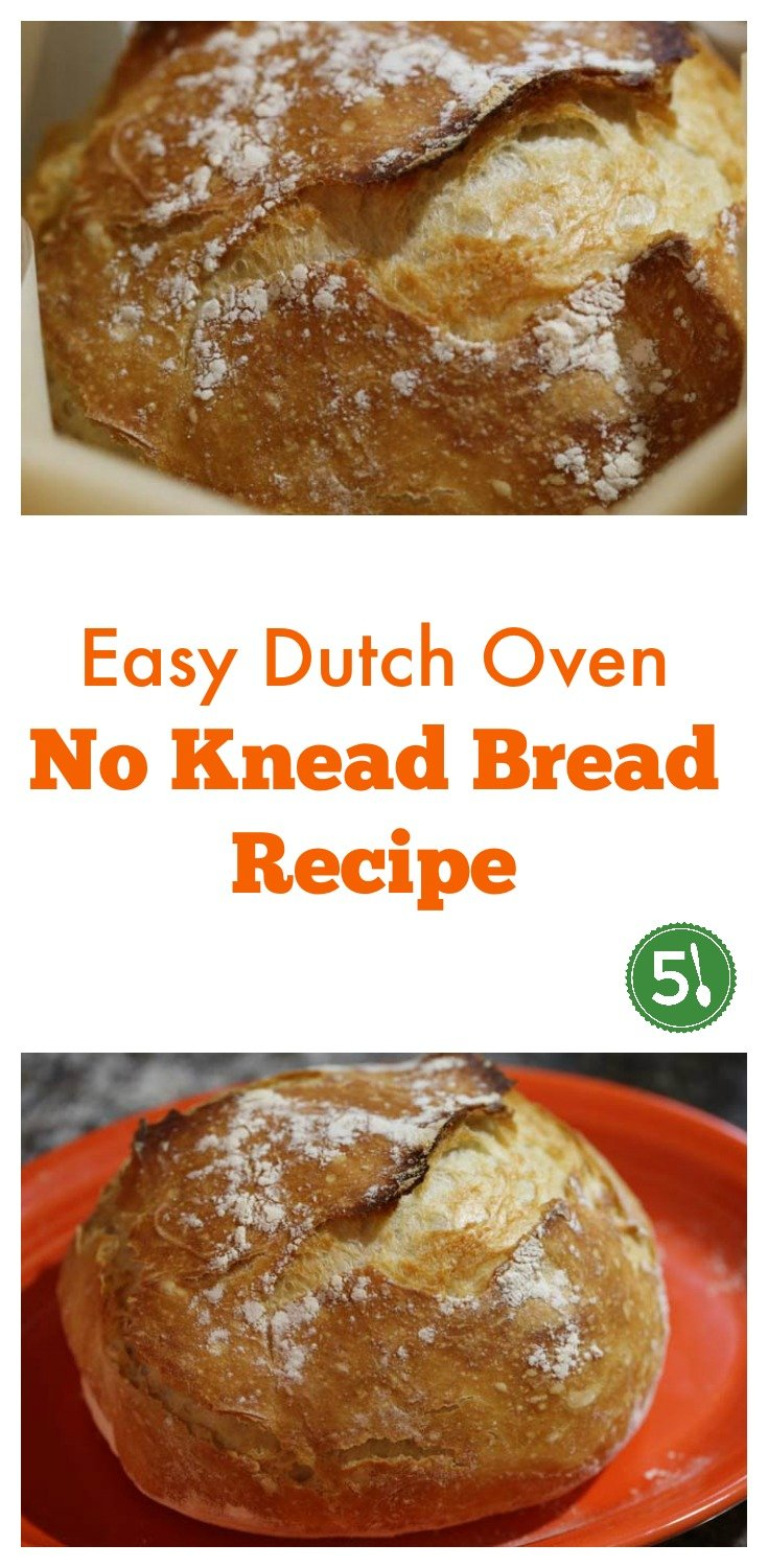 Easy dutch oven no knead bread recipe that is very quick to prepare and absolutely delicious.
