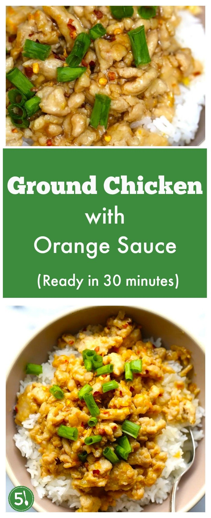 Easy and healthy ground chicken recipe that is perfect for those rushed midweek dinners.  Only takes 30 minutes to create this delicious dinner.
