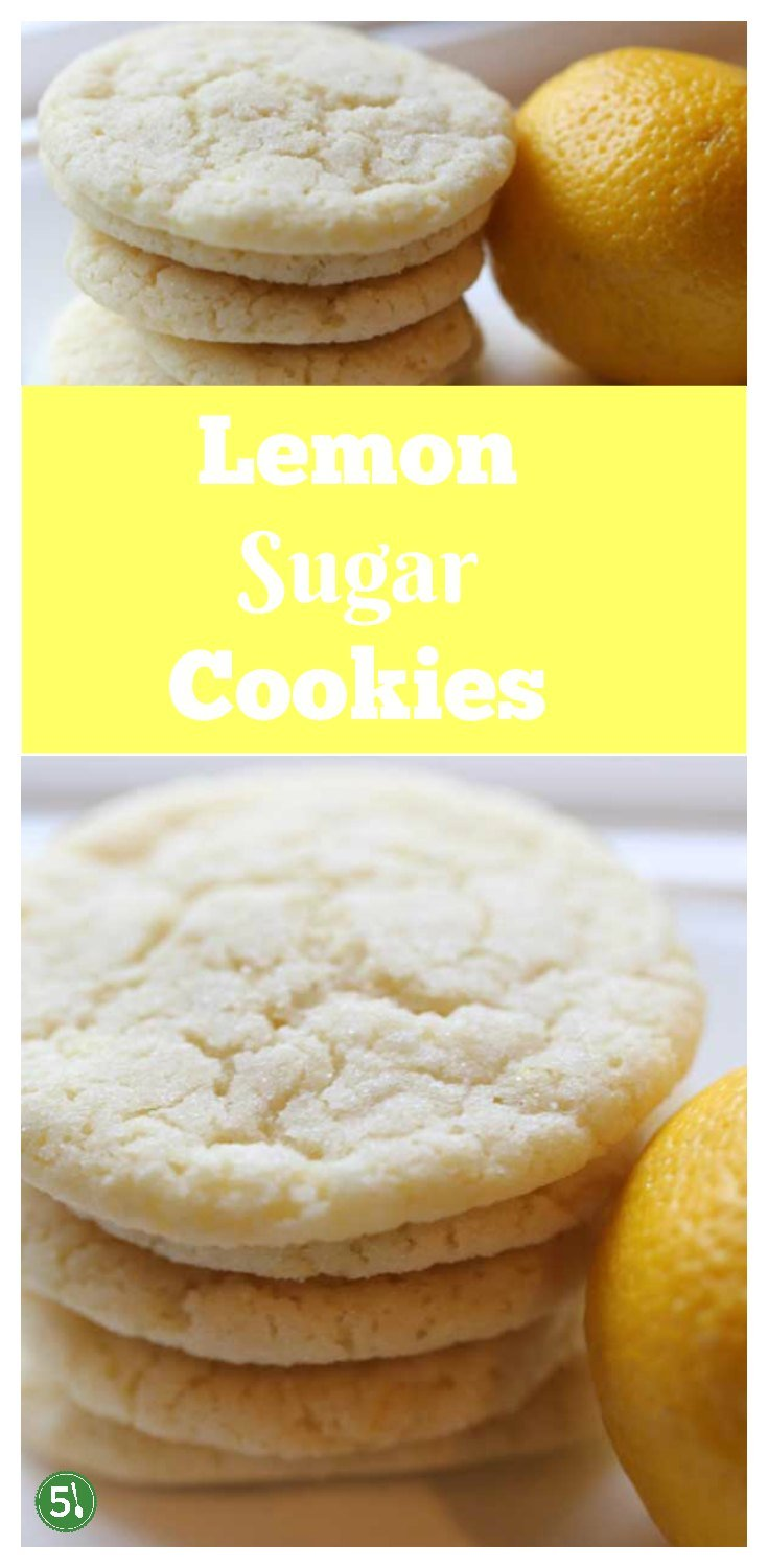 Easy Lemon Sugar Cookies recipe for soft and chewy cookies that would also work well for cutout cookies.