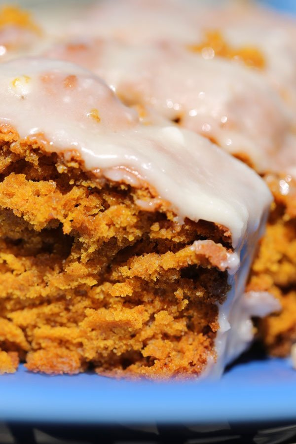 Moist Pumpkin Bread with Browned Butter Maple Icing