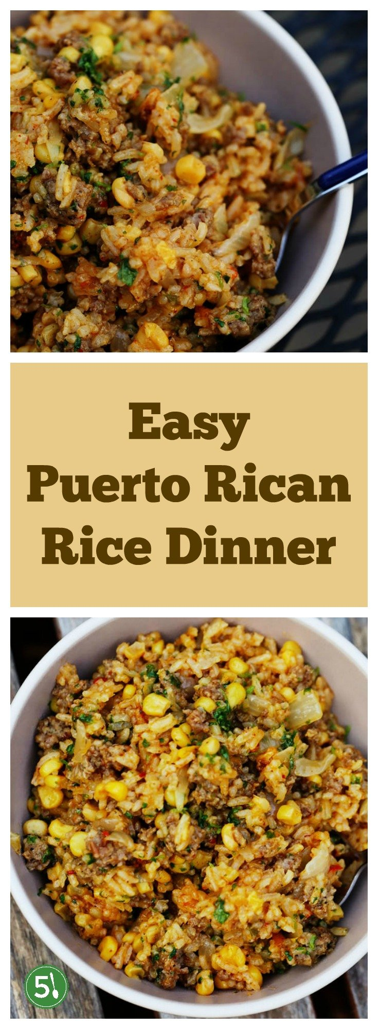 Easy Puerto Rican rice dinner recipe that will wow the family.