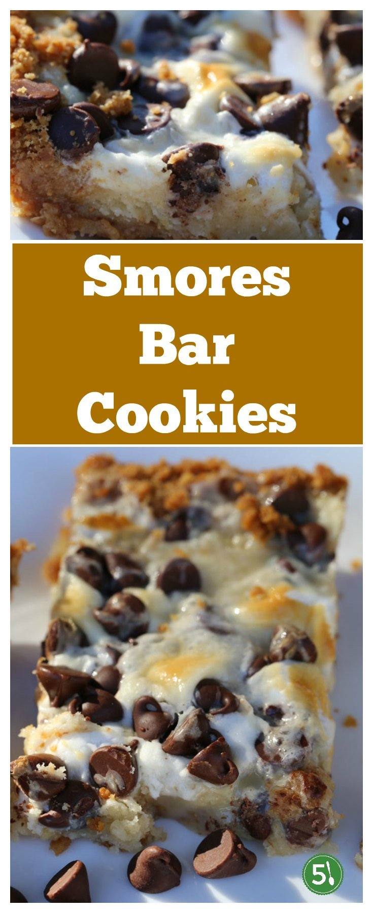 These smores bar cookies with chocolate chips, crushed graham crackers and mini marshmallows are one of our favorite dessert recipes!!