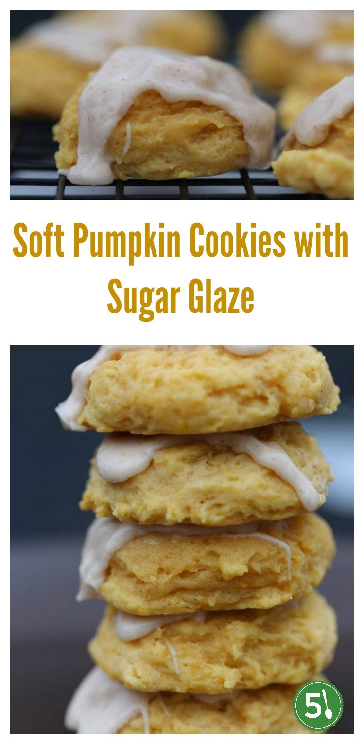 With pumpkin pie spices in both the soft cookie and the glaze, these cookies are a unique treat year around. So light with the perfect amount of sweetness.