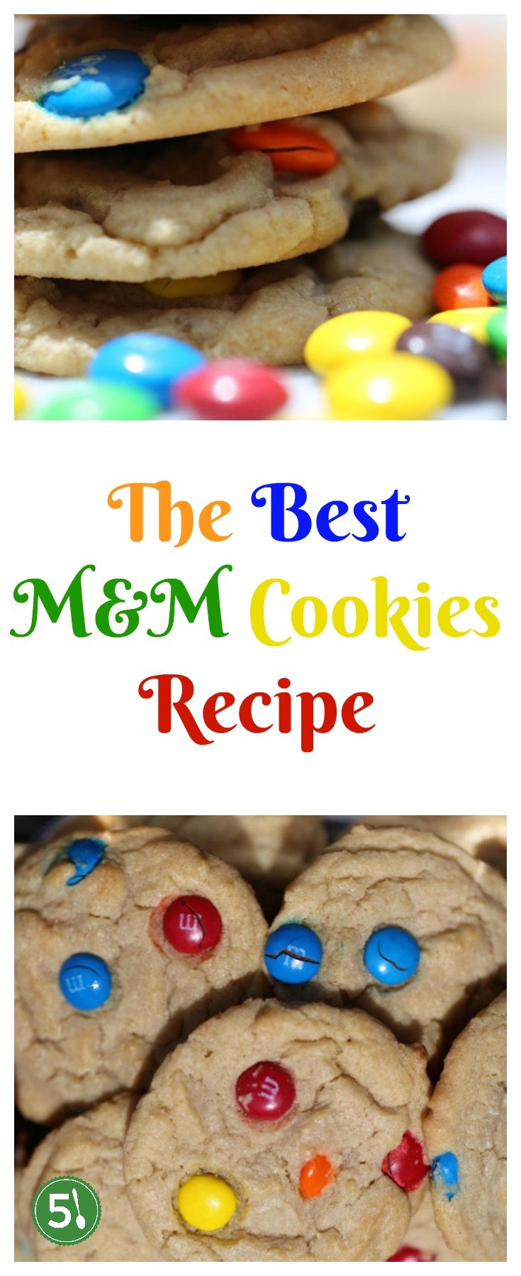 Best M&M cookies recipe for learning how to make soft and chewy M&M cookies that are easy and quick to whip up.