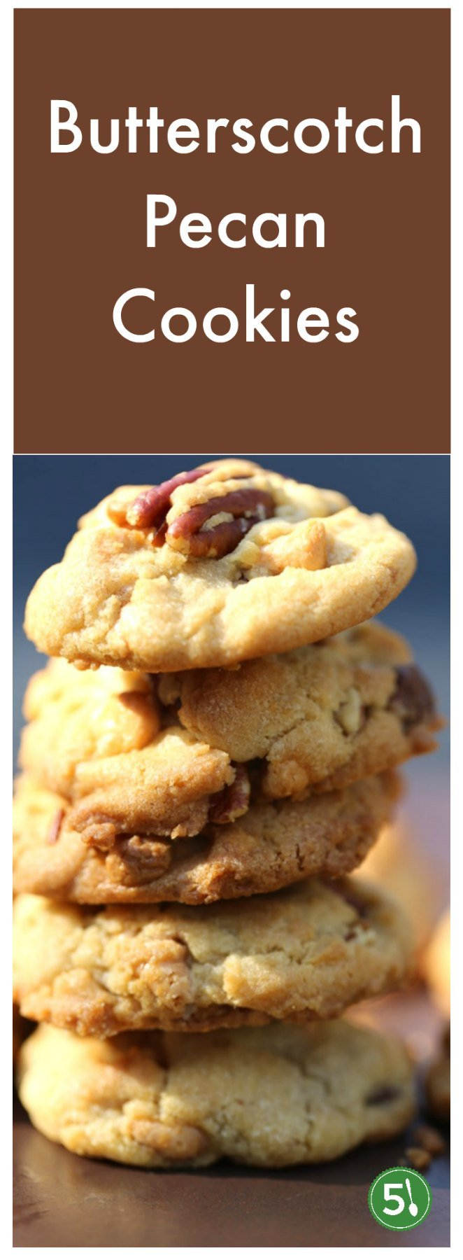 These easy butterscotch cookies have a unique flavor combination. The toasted pecans atop the crispy cookie are cookie perfection.