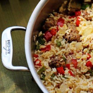 italian sausage and rice skillet