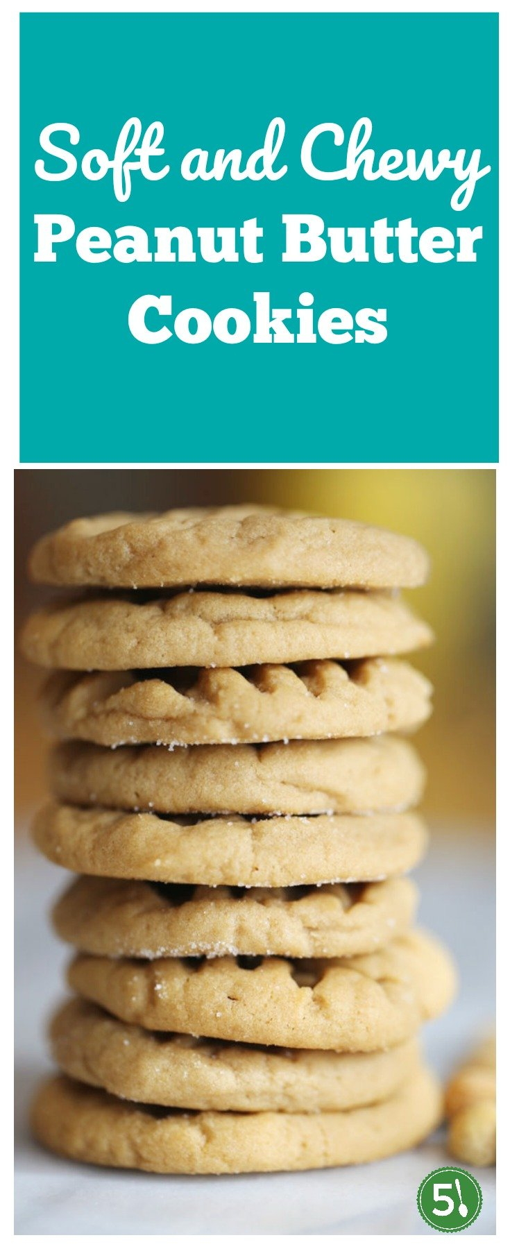 Peanut Butter cookies that are soft, chewy and slightly crispy on top are the best.  This peanut butter cookie recipe is easy to throw together and produces the perfect cookie.