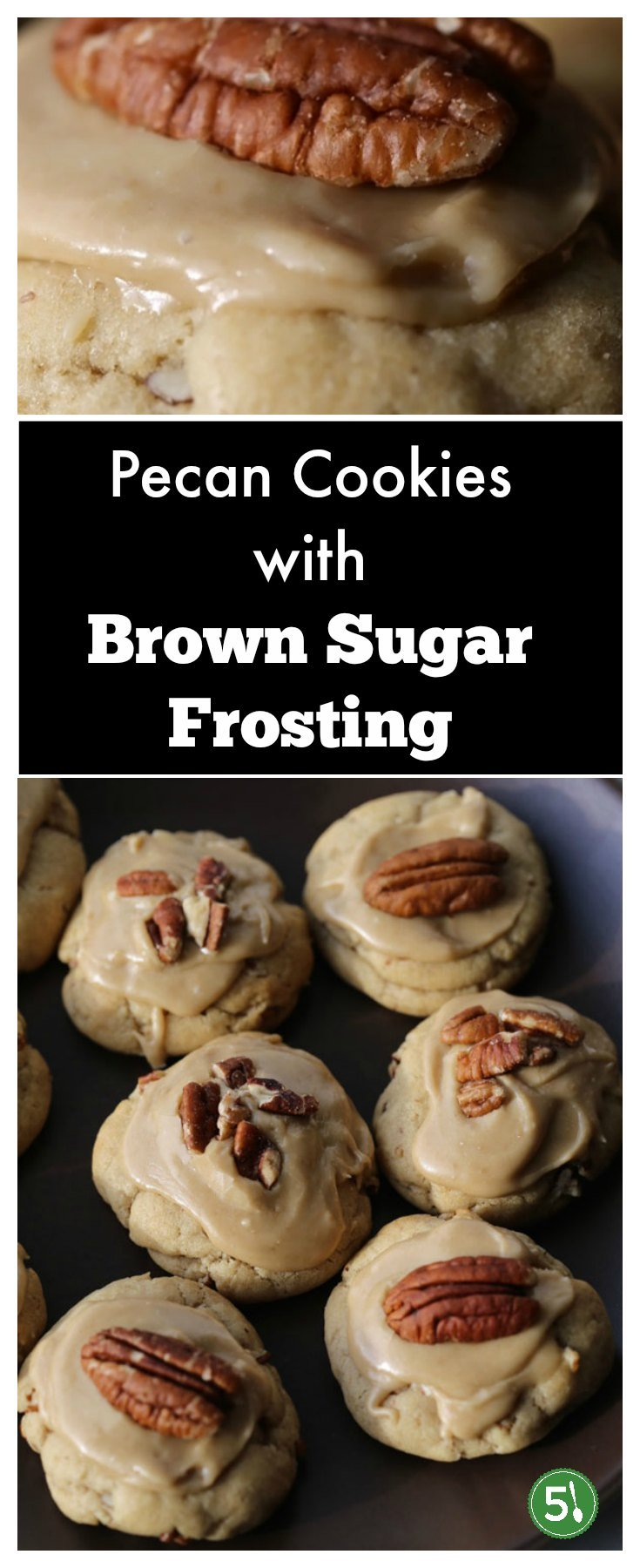 These easy Pecan cookies with brown sugar frosting are melt in your mouth delicious.   I love pecan cookies recipes, especially for Christmas, and this has is one of my family's new favorites.