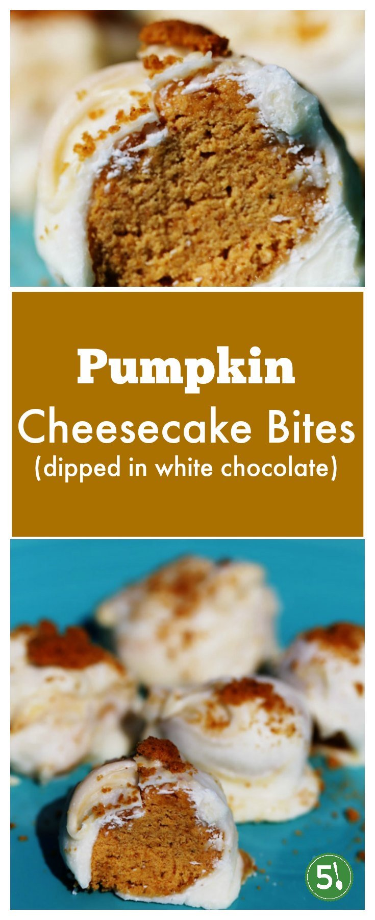 No bake pumpkin cheesecake bites are easy to whip up as delish treats for family and friends.  So festive filled with pumpkin spice, this recipe will put you in the mood for a Fall party.