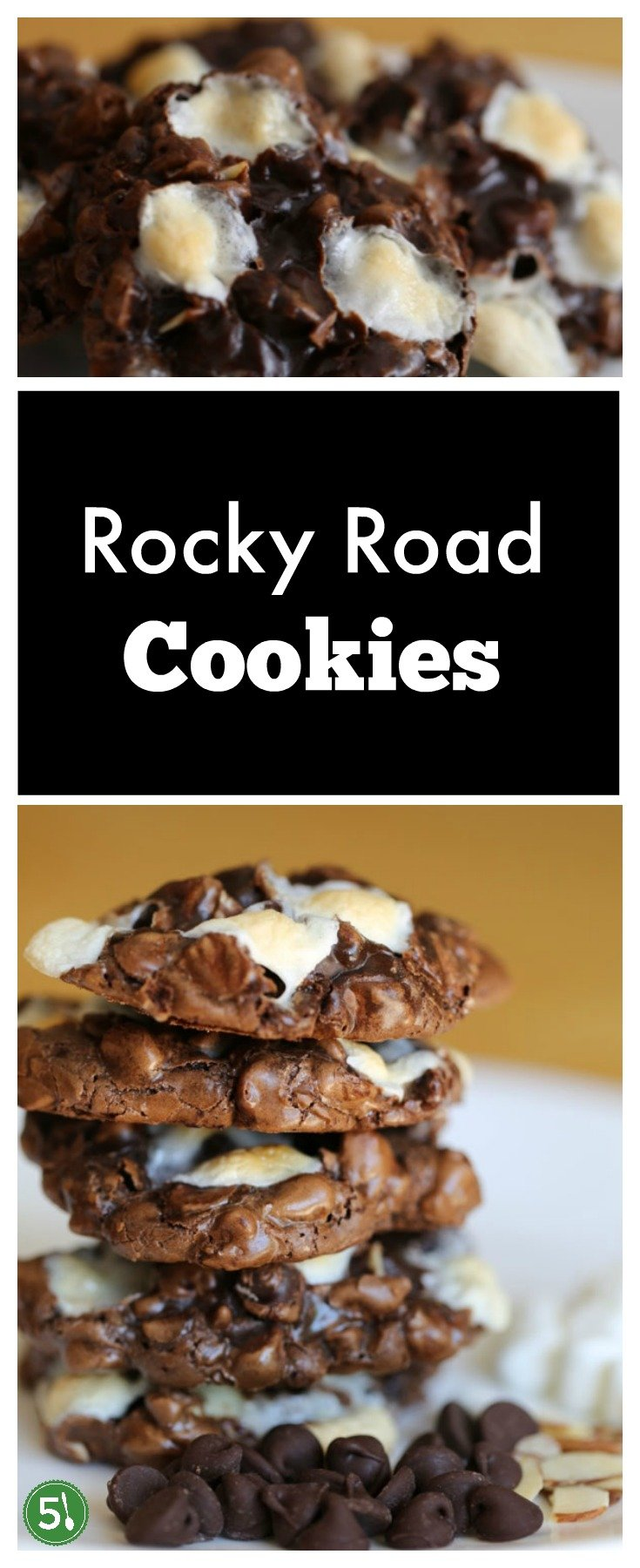 Easy rocky road cookies recipe that is full of ooeey gooey, chocolatey goodness that is a decadent treat to savor.