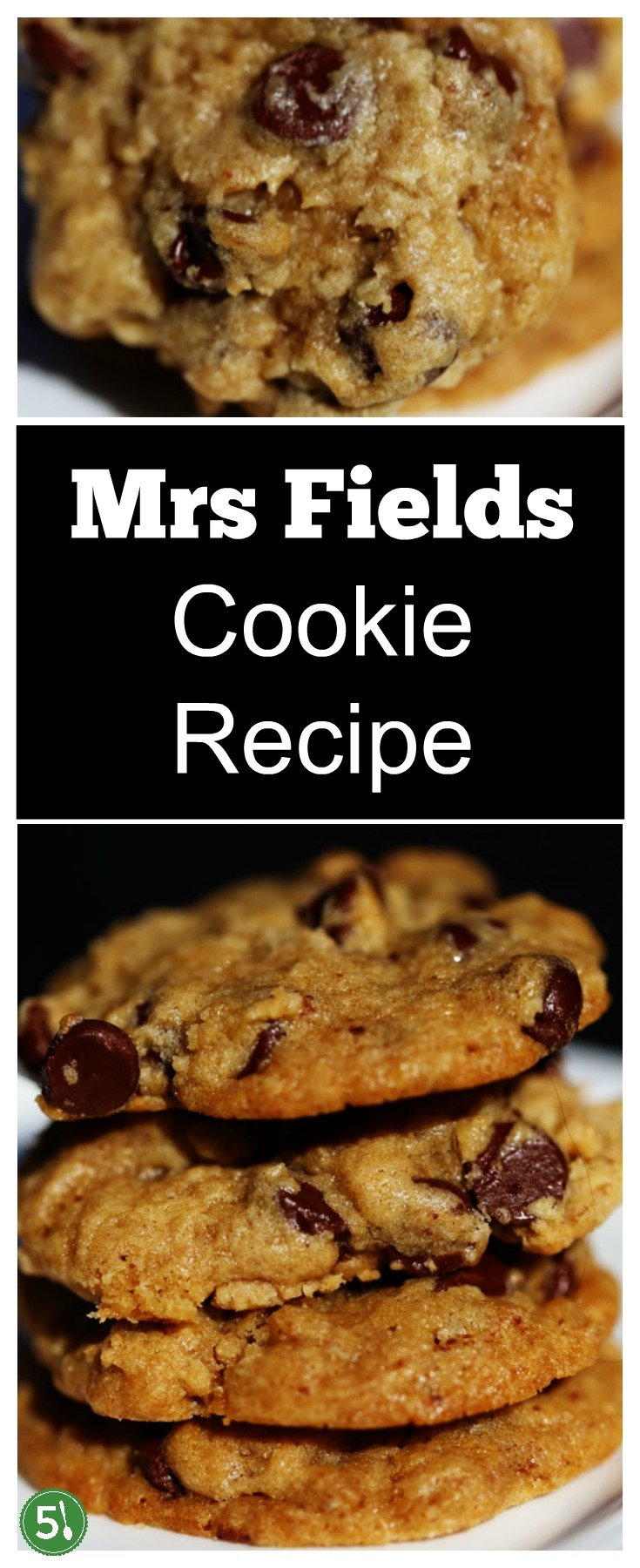 Mrs Fields Cookie Copycat Recipe stuffed with chocolate chips is just like you remember from the mall. SO buttery and melt in your mouth delicious!!