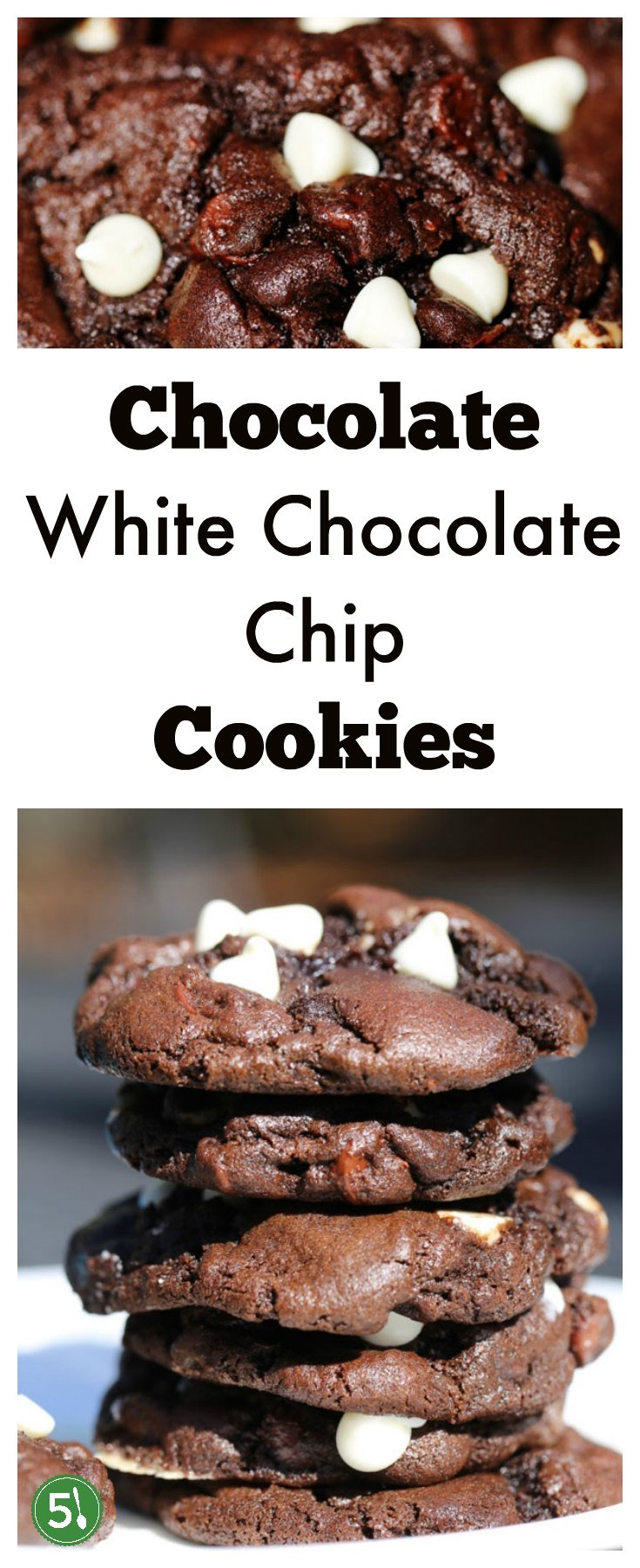 Soft chocolate white chocolate chip cookies recipe with nestle semi sweet and white chocolate chips. This is a heavenly fudgey brownie like cookie that is now one of my favorite desserts!