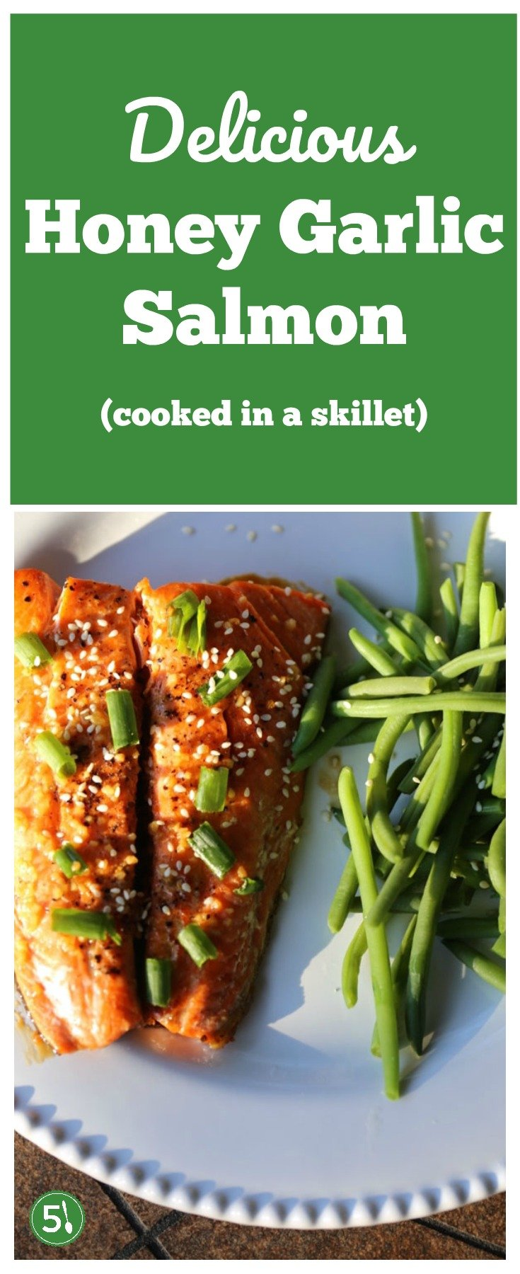 This is an easy and healthy skillet honey garlic salmon dish with the most delicious marinade. LOVE this recipe!