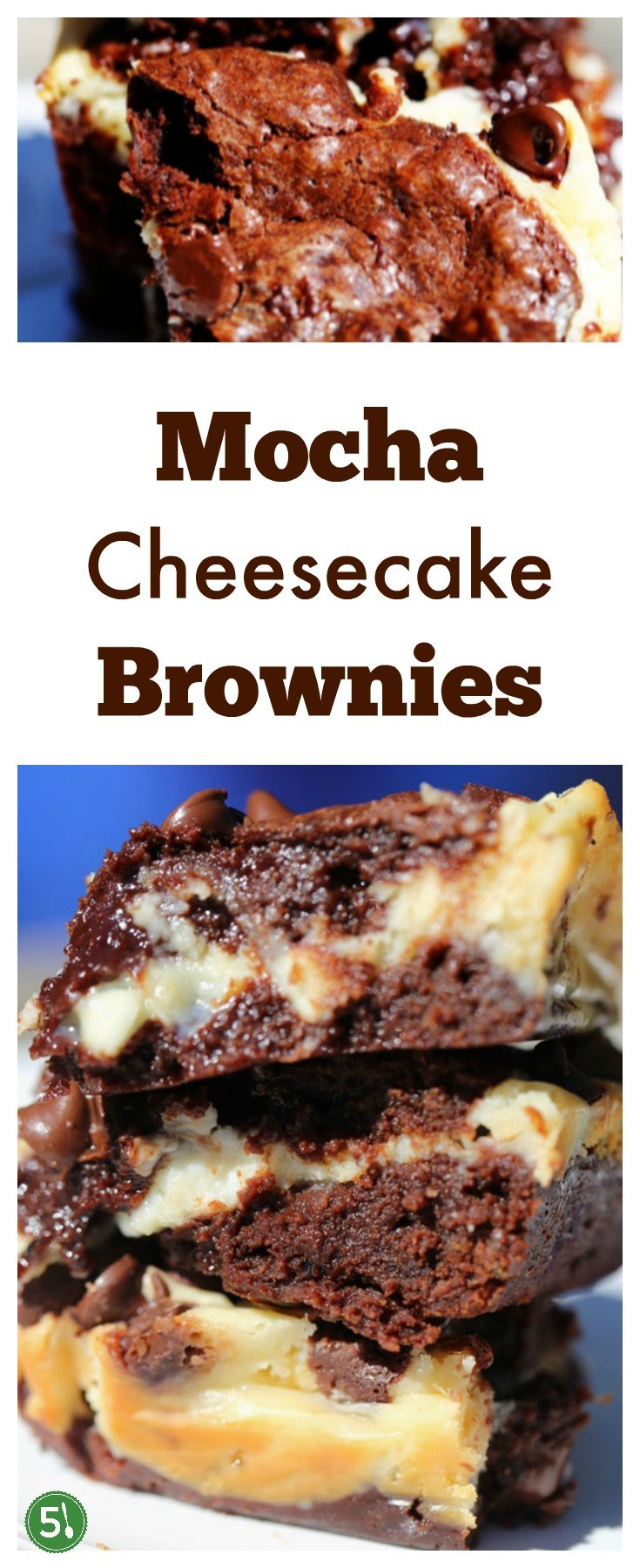 Mocha cheesecake brownies with cream cheese, chocolate chips, coffee, and chopped chocolate is just about one of the best desserts ever.