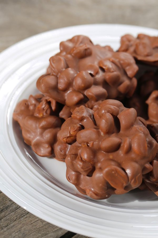 Candy made from peanut clusters recipe.