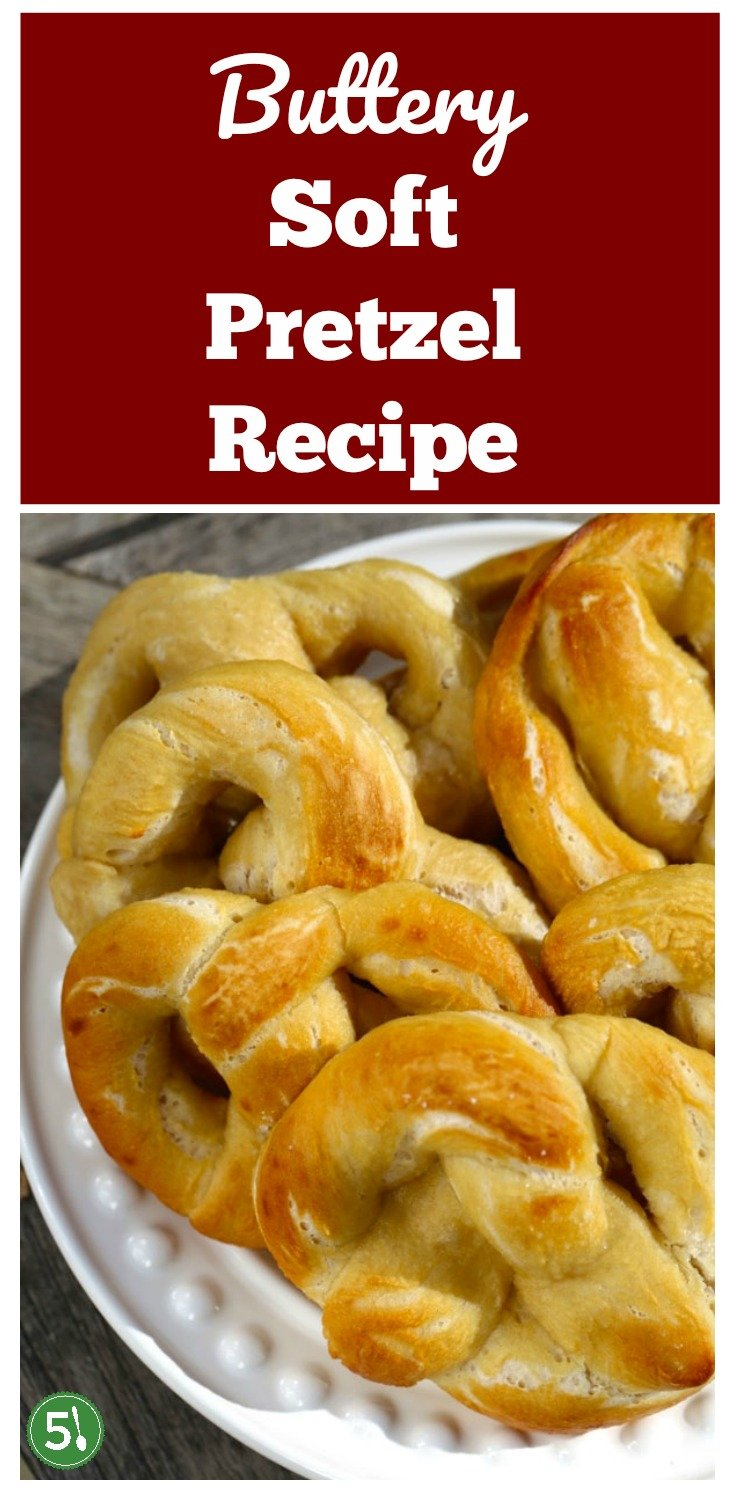 Easy homemade soft pretzel recipe that is quick to whip up and oh so tasty. Add to your list of yummy desserts with cinnamon sprinkled on top or turn them into pretzel bites and dip in cheese sauce for a delicious snack.