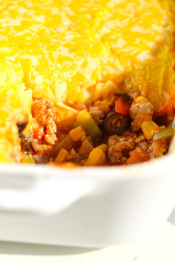 Tamale Pie with Cornmeal Crust | Five Silver Spoons
