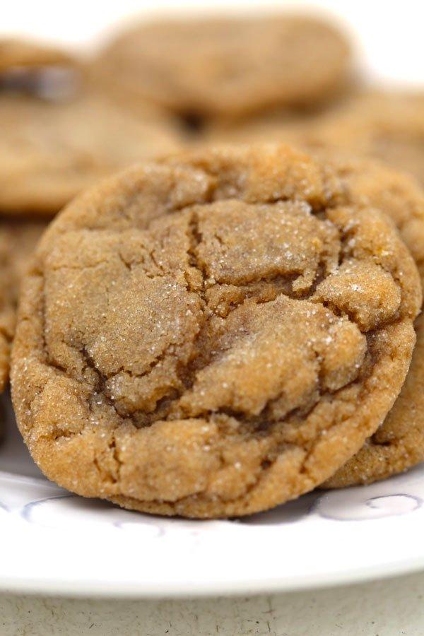 Close up of Brown Sugar Cookies