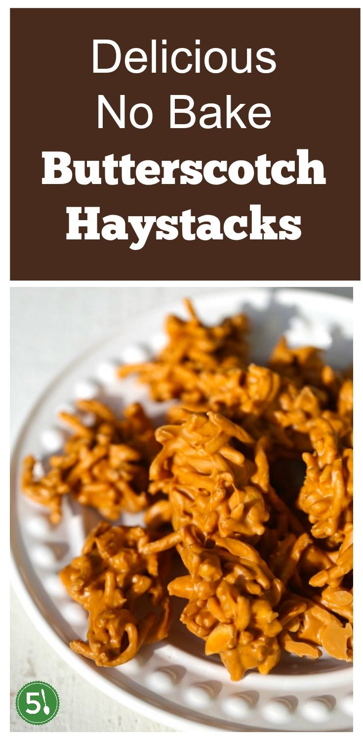 This butterscotch Haystacks recipe with chow mein and roasted cashews is the perfect sweet treat.  Love these Hay stacks at Christmas or really any time of the year.  Yum!!