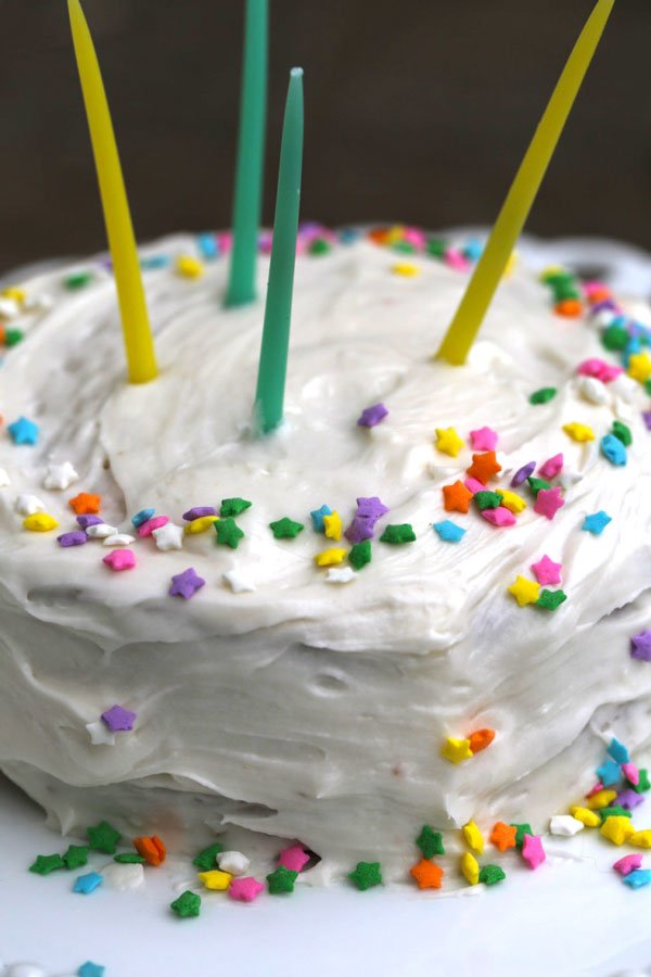 Small Cake Recipe with Almond Buttercream Frosting