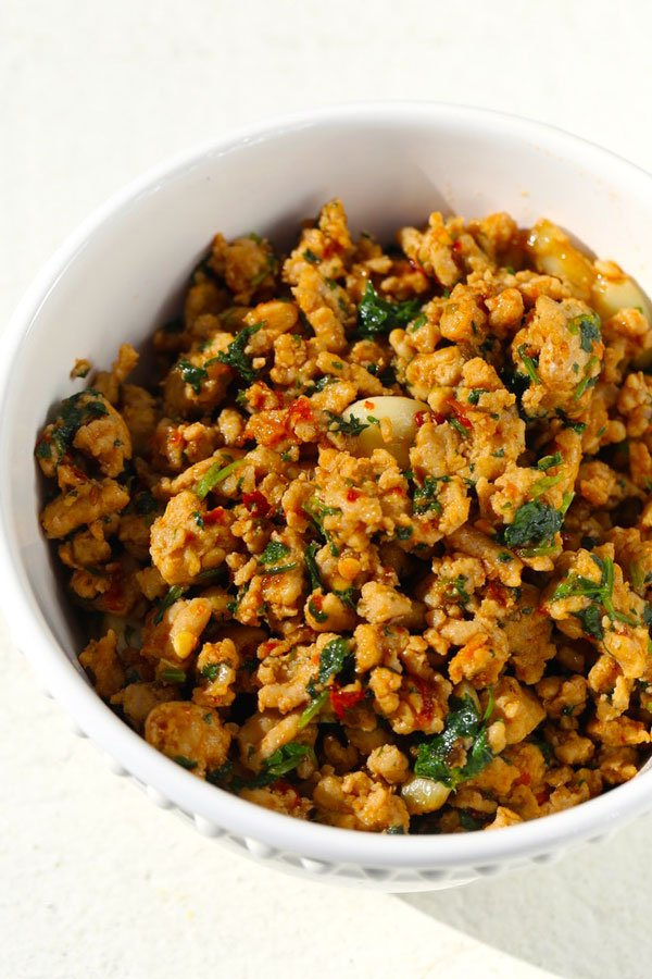 Ground Chicken Recipe With Mint Burmese Style Five Silver Spoons