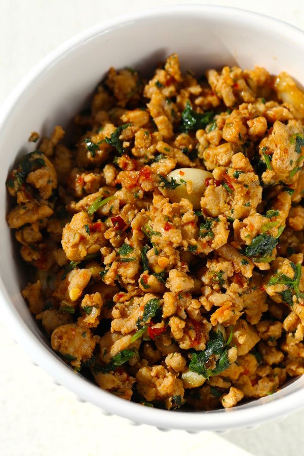 Ground Chicken Recipe with Mint, Burmese Style