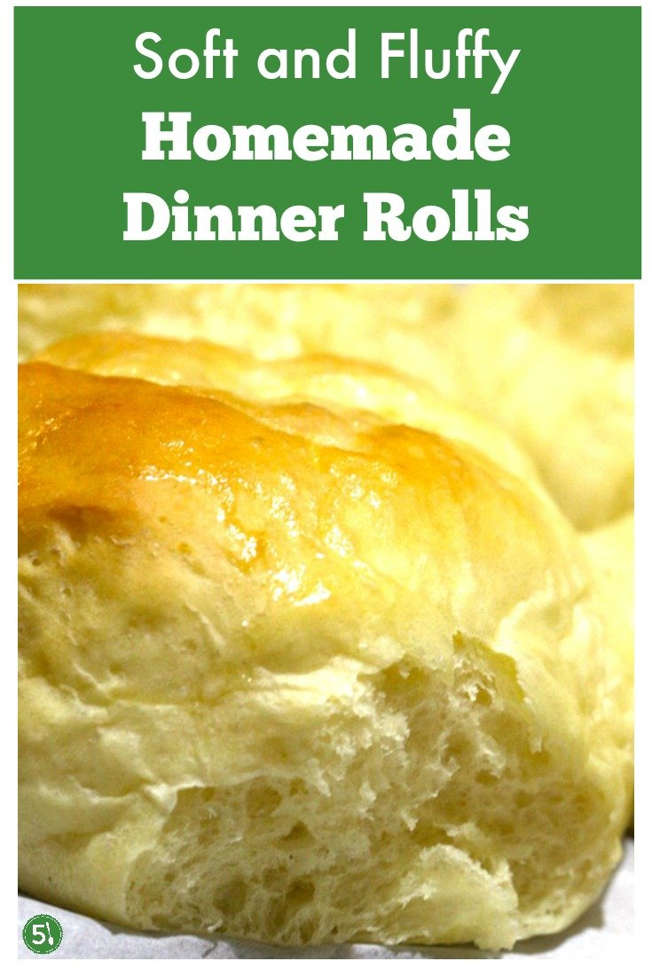 Best ever homemade dinner rolls recipe.  Soft and fluffy rolls with melted butter brushed on top.