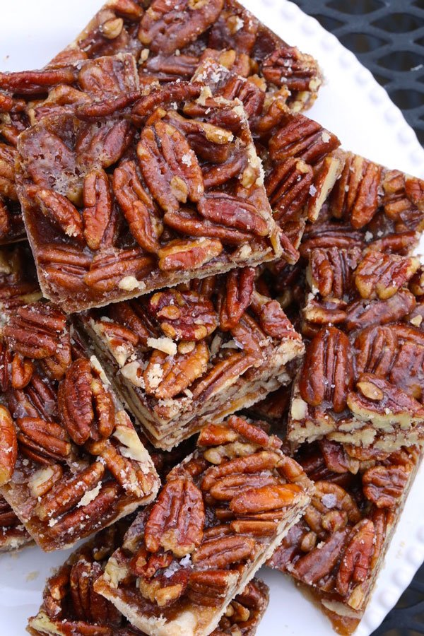 Pecan Bars with Shortbread Crust