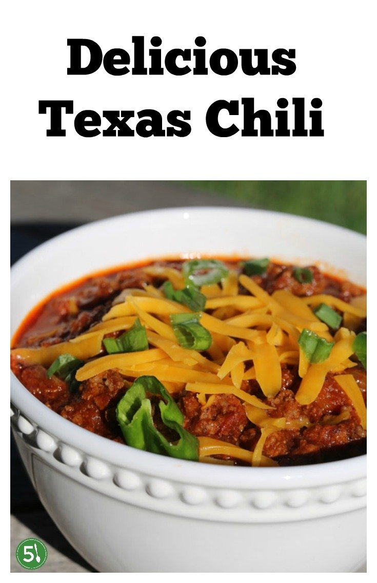 How to Make Authentic Texas Chili with beef and no beans.  This traditional recipe includes crushed tomatoes and for seasoning, several spices including smoked paprika. SO good.