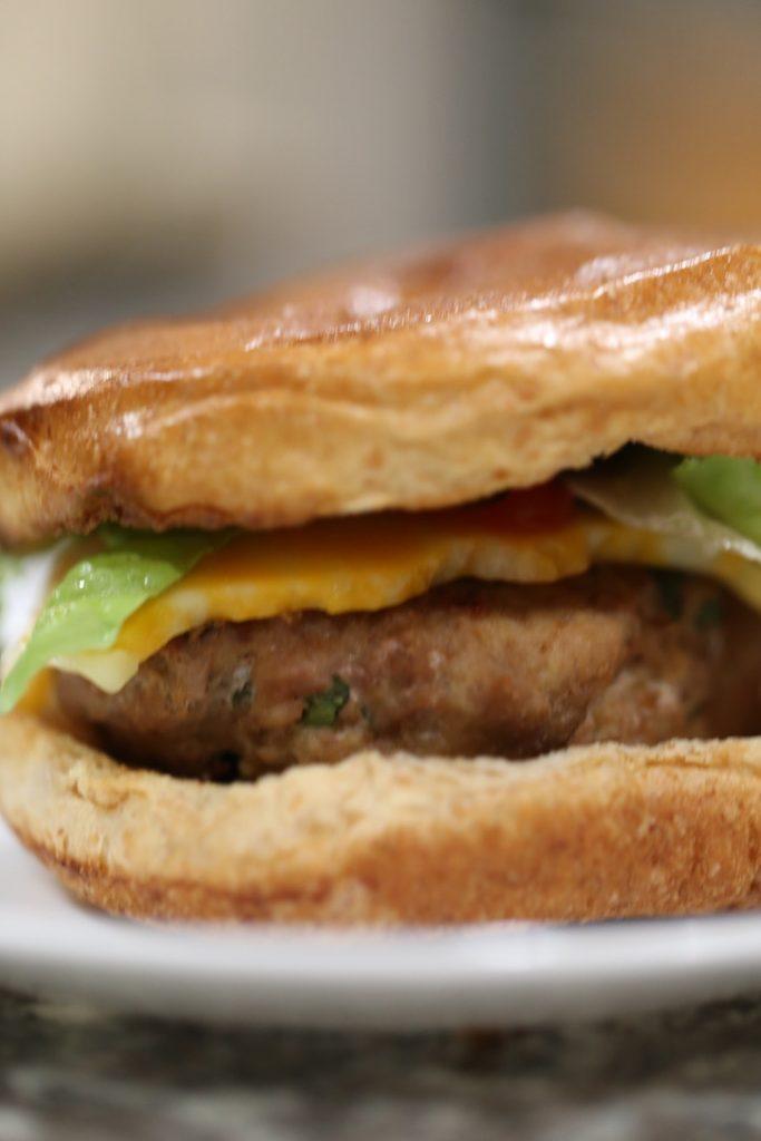 Juicy Turkey Burger on a plate