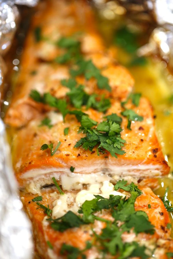baked salmon in foil