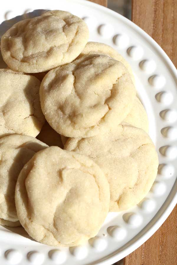 Amish cookies on a white plate.